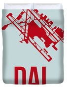 Dal Dallas Airport Poster 3 Duvet Cover
