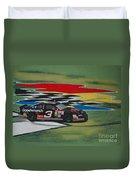 Dale Earnhardt Wins Daytona 500-infield Doughnuts Duvet Cover