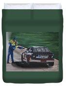 Dale Earnhardt Wins Daytona 500-pit Road Hand Shake Duvet Cover