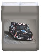 Dale Earnhardt Wins-wave To The Crowd Duvet Cover