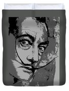 Dali In B W Duvet Cover