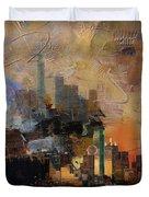 Dallas Abstract 002 Duvet Cover