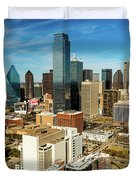 Dallas Skyline As Seen From Reunion Duvet Cover
