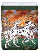 Dalmatians Three Duvet Cover