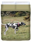 Dalmation Pretending To Be A Pointer Duvet Cover