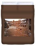Damaged Building Duvet Cover