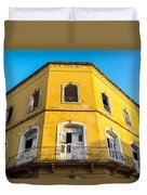Damaged Colonial Building Duvet Cover