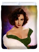 Dame Elizabeth Rosemond 'liz' Taylor - Featured In 'comfortable Art' Group Duvet Cover