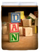 Dan - Alphabet Blocks Duvet Cover