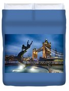 Dance At The Tower Duvet Cover