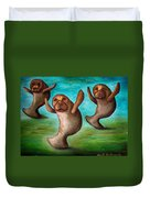 Dance Of The Manatees Edit 3 Duvet Cover