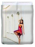 Dance On The Wall Duvet Cover