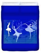 Dance The Blues Away Duvet Cover