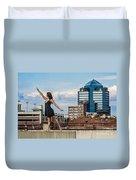 Dance The Durham Skyline Duvet Cover by Jh Photos