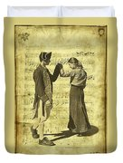 Dance The Minuet With Me Duvet Cover