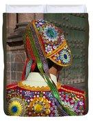 Dancer In Native Costume Peru Duvet Cover