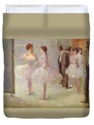 Dancers In The Wings At The Opera Duvet Cover by Jean Louis Forain