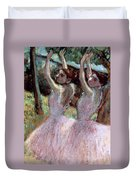 Dancers In Violet Dresses Duvet Cover