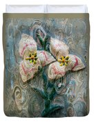 Dances With Flowers Duvet Cover