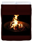 Dancing Amber Fire In Pit Duvet Cover