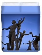 Dancing Figures Duvet Cover by Brian Jannsen