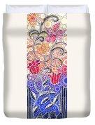 Dancing Flowers At Sunrise Duvet Cover by Linda Bailey