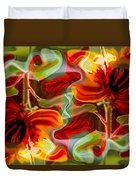 Dancing Flowers Duvet Cover by Omaste Witkowski
