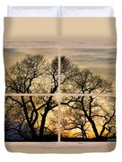 Dancing Forest Trees Picture Window Frame Photo Art View Duvet Cover
