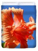 Dancing Hibiscus Duvet Cover