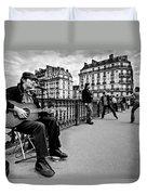 Dancing In The Streets Of Paris / Paris Duvet Cover