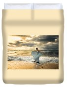 Dancing In The Surf Duvet Cover