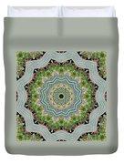Dancing Mandevilla Blossom Kaleidoscope Duvet Cover