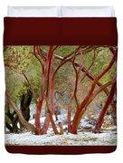 Dancing Manzanitas On The Hillside In Park Sierra-california Duvet Cover