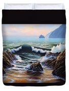 Dancing Tide Duvet Cover