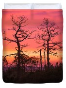 Dancing Trees Into The Fire Duvet Cover