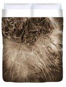Dandelion Burst Sepia Duvet Cover