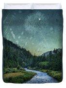 Dandelion Moon Duvet Cover