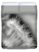 Dandelion Seeds - Black And White Duvet Cover