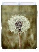 Dandelion Textures Duvet Cover