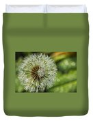 Dandelion With Water Drops Duvet Cover