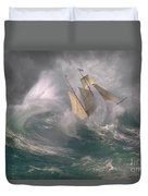 Danger At Sea Duvet Cover