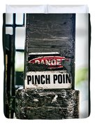 Danger Pinch Point Duvet Cover