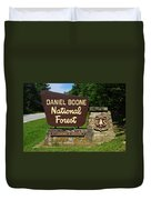 Daniel Boone Duvet Cover by Frozen in Time Fine Art Photography