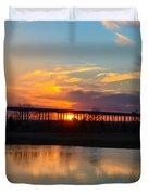 Daniel Island Sunset Duvet Cover
