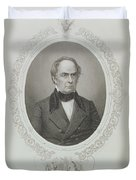 Daniel Webster, From The History Of The United States, Vol. II, By Charles Mackay, Engraved By T Duvet Cover