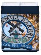 Danish Mill Bakery In Solvang California Duvet Cover