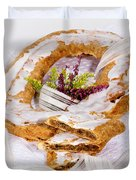 Danish Pastry Ring With Pecan Filling Duvet Cover