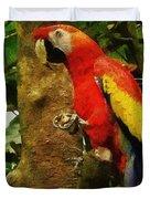 Danse Macaw Duvet Cover