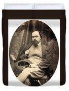 Dante Gabriel Rossetti English Poet Duvet Cover by Photo Researchers