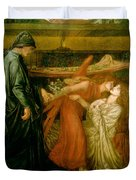 Dantes Dream At The Time Of The Death Of Beatrice 1856 Duvet Cover
